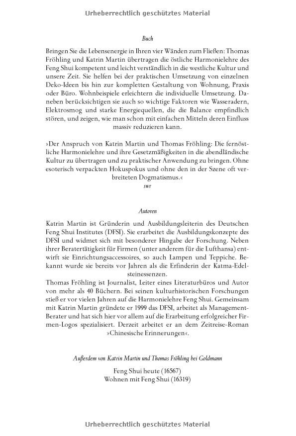 Feng Shui Berater der feng shui berater im taschenbuchformat dfsi